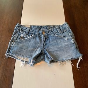 G star cut off shorts for sale